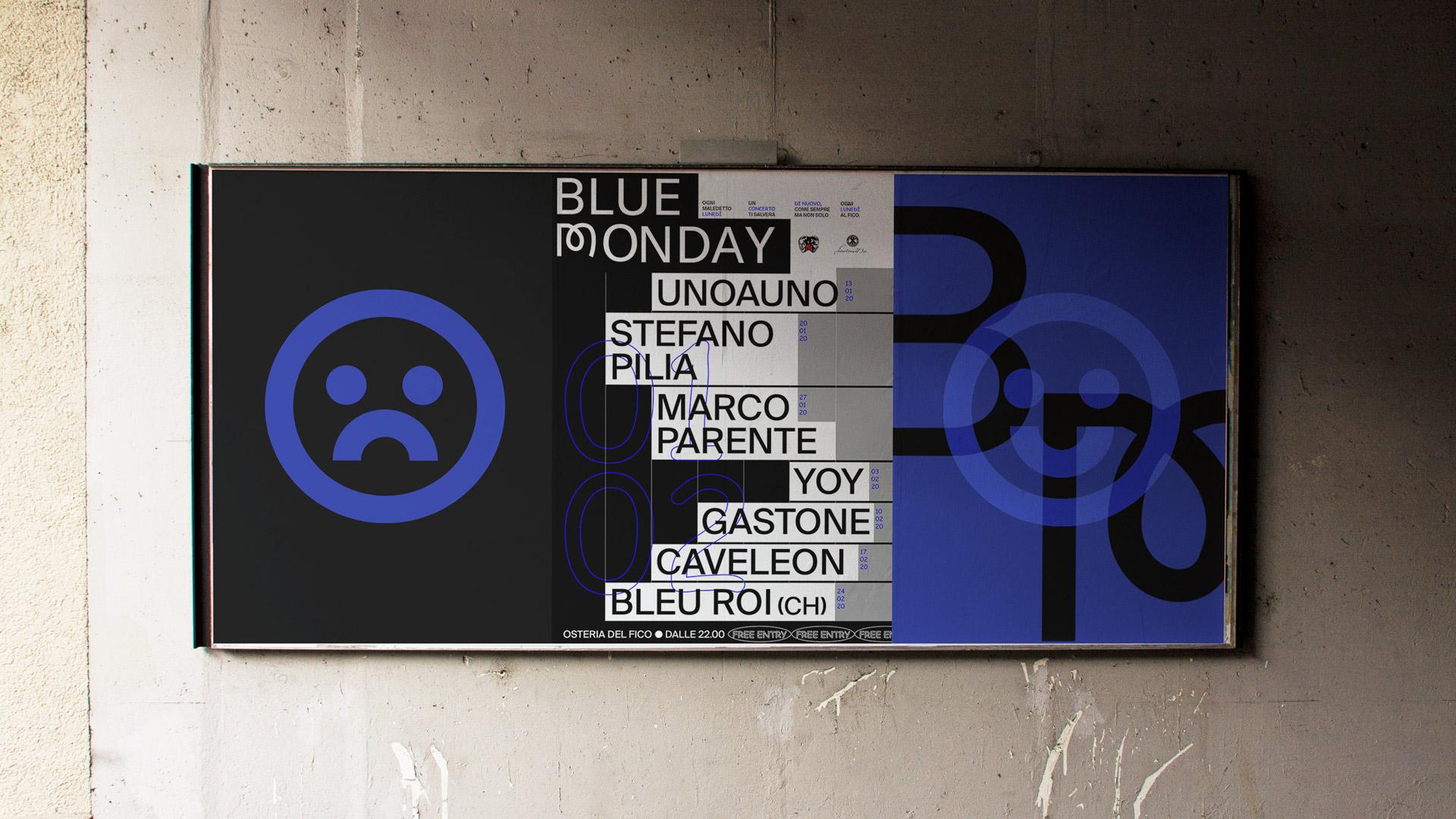 Blue-trittico